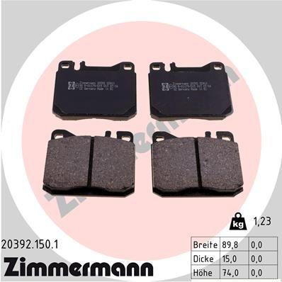 ZIMMERMANN 203921501 | Комплект тормозных колодок, дисковый тормоз | Купить в интернет-магазине Макс-Плюс: Автозапчасти в наличии и под заказ