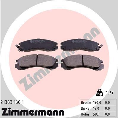 ZIMMERMANN 213631601 | КОЛОДКИ ТОРМ ПЕР. MITS GALANT V6 2.5 92->/L400/PAJERO II 90-00/SIGMA 90-96/SPACEWAGON 98-> | Купить в интернет-магазине Макс-Плюс: Автозапчасти в наличии и под заказ