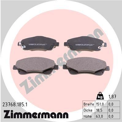 ZIMMERMANN 237681851 | Колодки тормозные дисковые к-т Toyota | Купить в интернет-магазине Макс-Плюс: Автозапчасти в наличии и под заказ