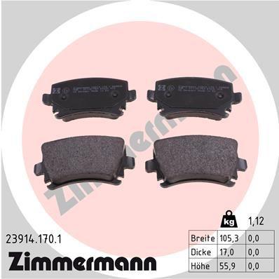 ZIMMERMANN 239141701 | Колодки тормозные дисковые к-т Audi, Skoda, VW | Купить в интернет-магазине Макс-Плюс: Автозапчасти в наличии и под заказ