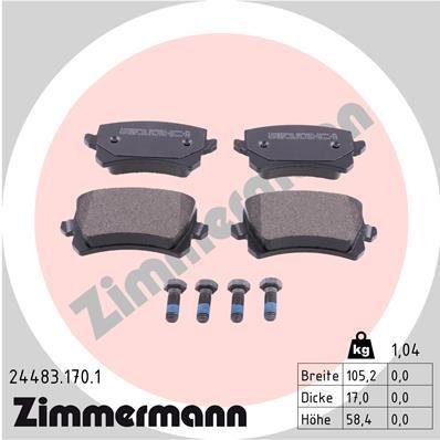ZIMMERMANN 244831701 | Колодки торм. | Купить в интернет-магазине Макс-Плюс: Автозапчасти в наличии и под заказ